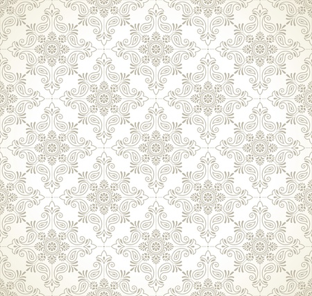 mustered: Seamless paisley wallpaper