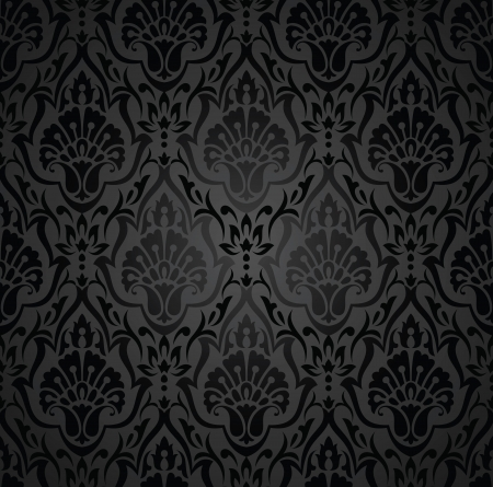 Royal traditional black wallpaper Vector