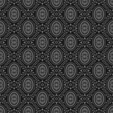 rich wallpaper: Traditional black seamless wallpaper Illustration