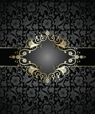 Royal floral note book Cover-Banner Vector