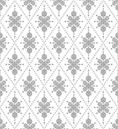 prata: Papel de parede floral de prata sem emenda Ilustra��o