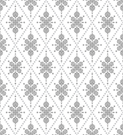 traditional silver wallpaper: Seamless silver floral wallpaper