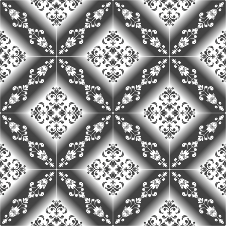 traditional silver wallpaper: Seamless luxurious Wallpaper-Background Illustration