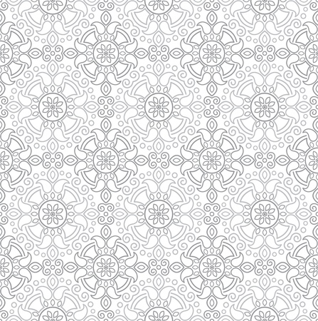 traditional silver wallpaper: Seamless traditional silver wallpaper Illustration