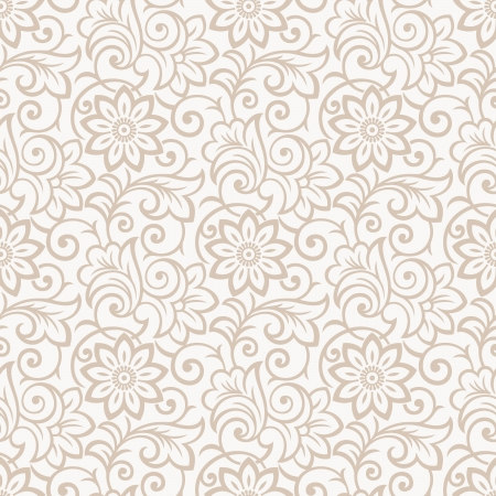 mustered: Floral seamless wallpaper real