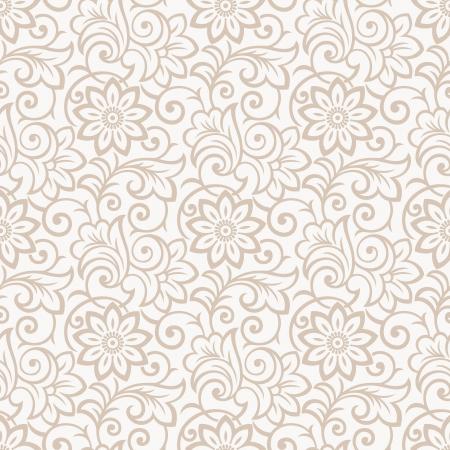 Floral seamless wallpaper royale