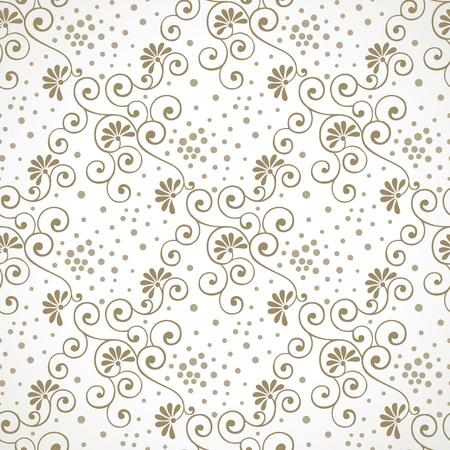 mustered: Seamless swirly wallpaper