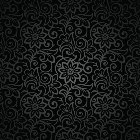 Seamless royal black background Vector