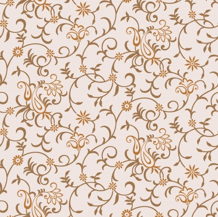 Seamless  paisley background Illustration