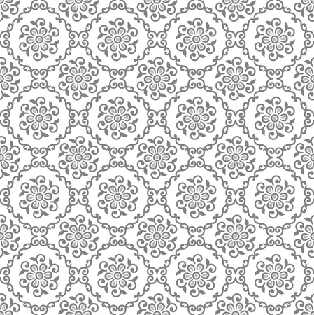 Seamless silver floral royal wallpaper Illustration