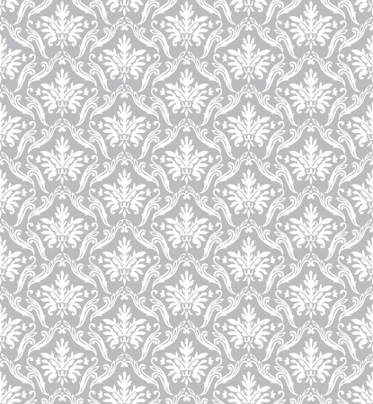 Silver classic wallpaper Stock Vector - 18121224