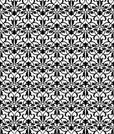 Seamless damask wallpaper and pattern Stock Vector - 18121237