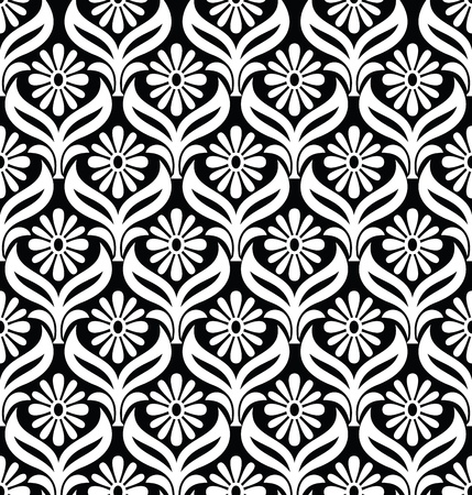 Seamless ornamental wallpaper-pattern Vector