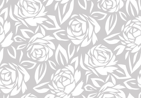 Seamless abstract rose flower background Vector