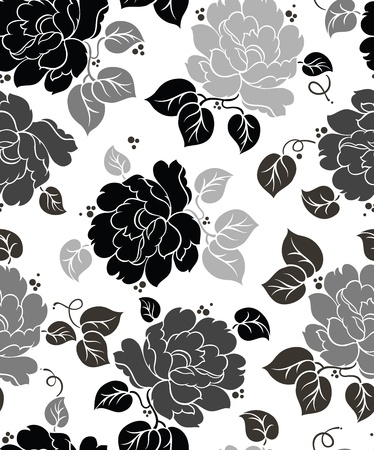 Seamless Floral-Wallpaper Stock Vector - 18183639