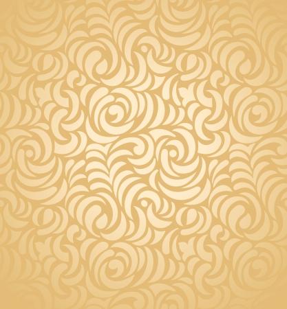 Seamless golden wedding card background Vector