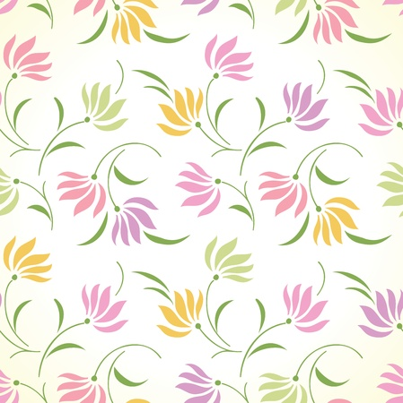Fancy seamless floral background Vector