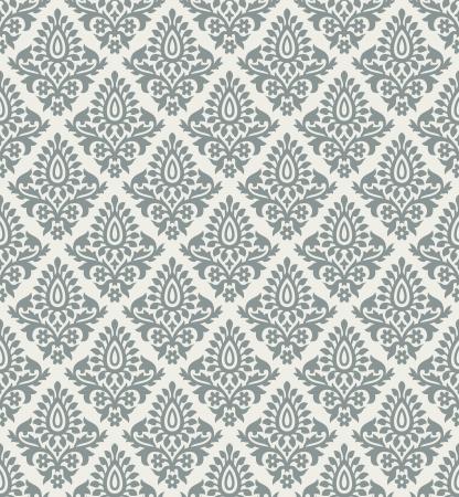 Royal floral seamless wallpaper Illustration