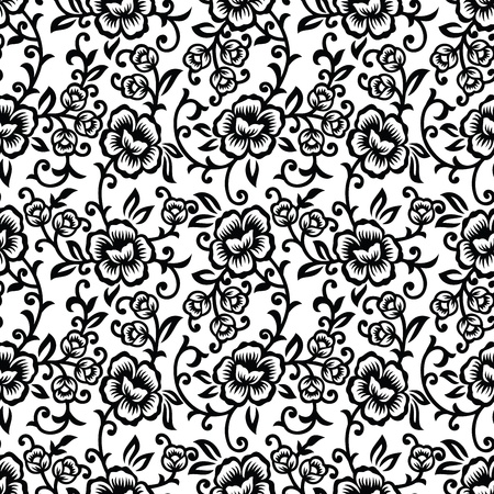 Floral seamless background - wallpaper Vector