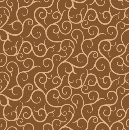 Seamless swirls pattern and background Vector