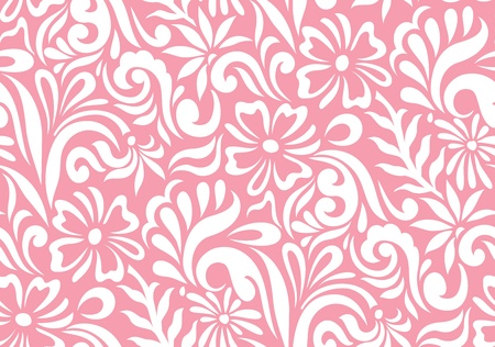 Seamless floral background for fabrics Ilustracja