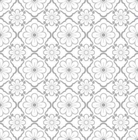 traditional silver wallpaper: Seamless floral wallpaper,pattern