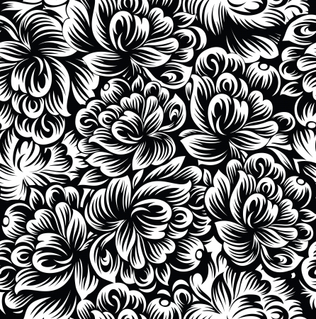 Seamless flowers background-wallpaper Vector