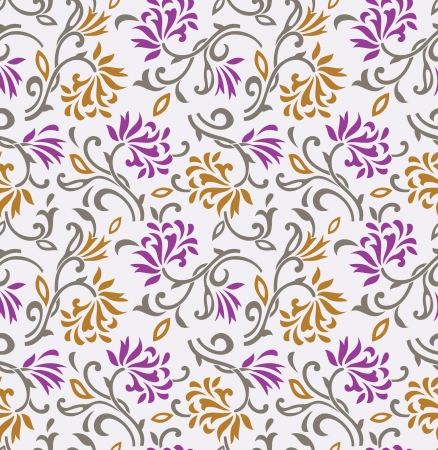 rich wallpaper: Seamless floral background-wallpaper-pattern Illustration