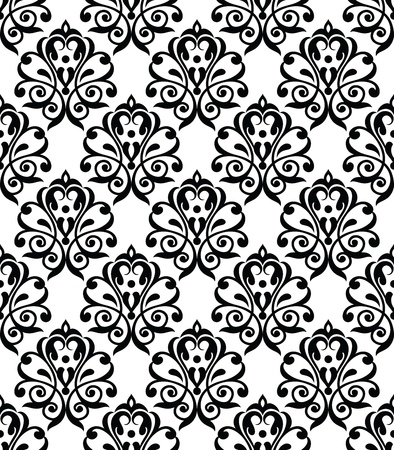 luxurious seamless wallpaper: Traditional seamless royal wallpaper Illustration