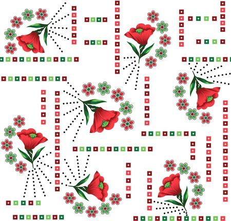 Fondo floral sin fisuras de tejidos textiles Foto de archivo - 18343780