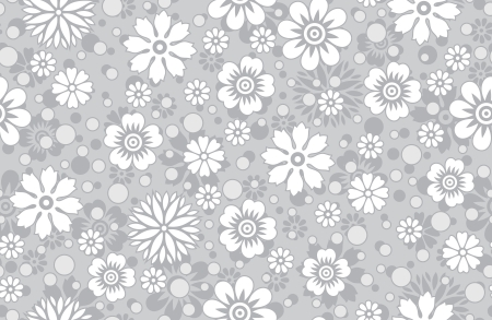 Floral silver background-pattern Vector
