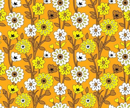 wedding table decor: Seamless fancy flower wallpaper-background