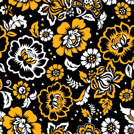Floral seamless background-wallpaper