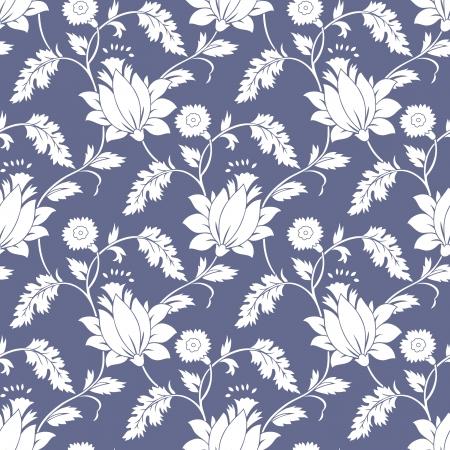 Seamless fancy lotus flower background-wallpaper Vettoriali