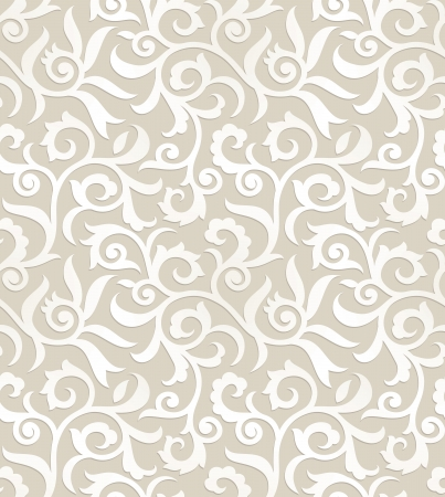 Royal seamless floral background Vector
