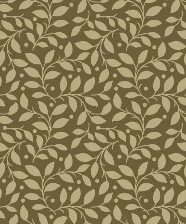 Seamless background de feuilles Vecteurs