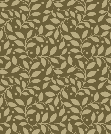 mustered: Seamless background of leaves Illustration