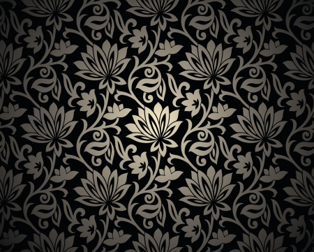 traditional silver wallpaper: Seamless ornamental background