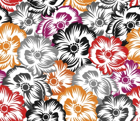 rich wallpaper: Seamless floral pattern,background Illustration