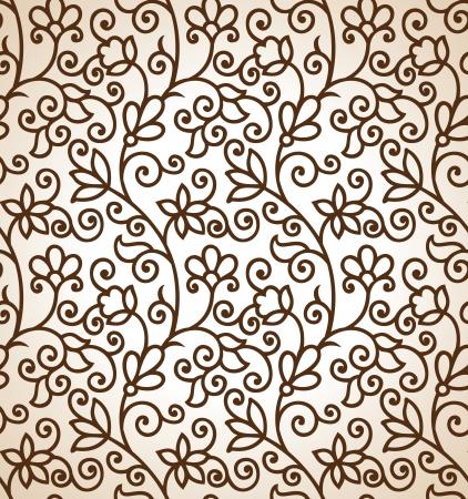 Seamless floral fondo marrón Foto de archivo - 18443120