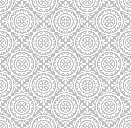 traditional silver wallpaper: Silver floral pattern-wallpaper Illustration