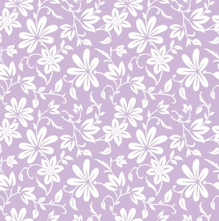 Naadloze paarse bloemen achtergrond