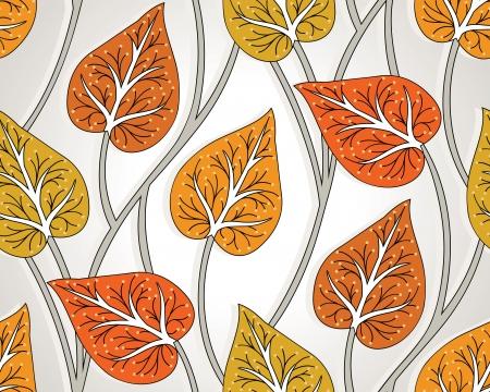 Seamless wallpaper hojas fantasía Foto de archivo - 18553092