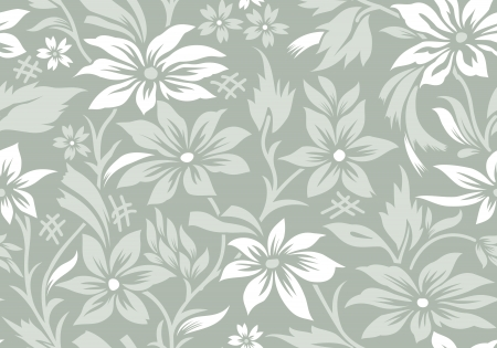 Seamless flower wallpaper Vector
