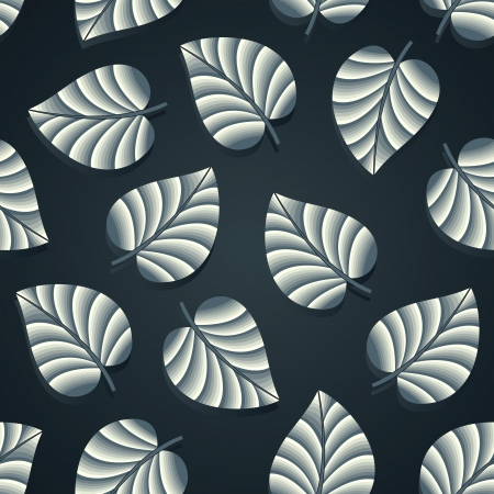 Royal seamless leaves wallpaper Stock Vector - 18553192