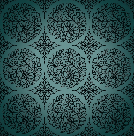 traditional silver wallpaper: Seamless paisley vector wallpaper