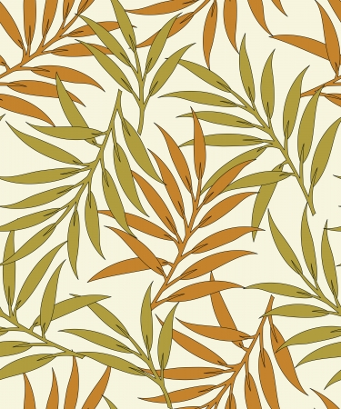 Seamless leaves background-pattern Vector