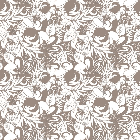 Seamless royal floral wallpaper Stock Vector - 18737752