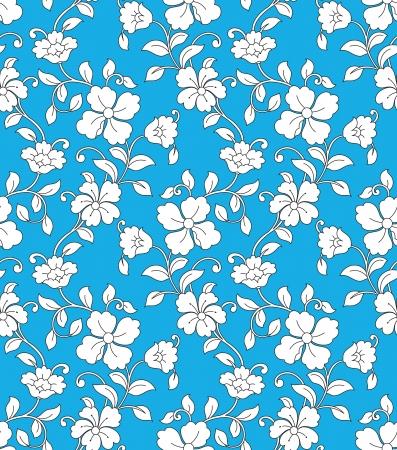 Seamless vector wallpaper florecer Foto de archivo - 18737751