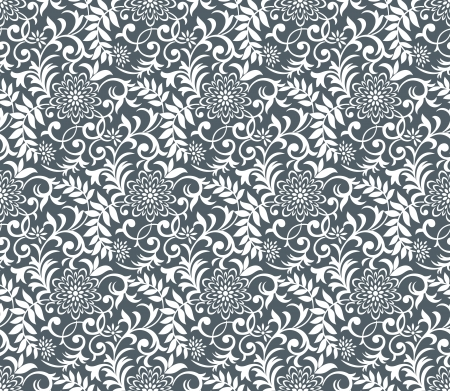 rich black wallpaper: Seamless floral wallpaper design